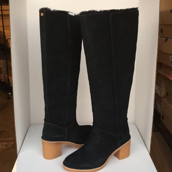 b0cb1663dd9 ❤️New Ugg Black Kasen Tall Suede Boots sz 6.5